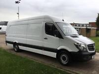 2015 15 MERCEDES-BENZ SPRINTER 2.1 313CDI XLWB HIGH ROOF 130BHP. RARE 4.8 METERS