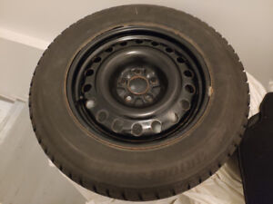 Bridgestone winter tires with wheels 225 65 R17