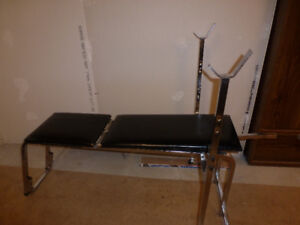 Weight Bench, Barbells & Dumbbells - 170 lbs of weights