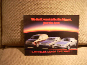 1985 Mopar sales brochure