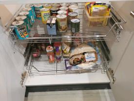Kitchen storage steel cupboard rack