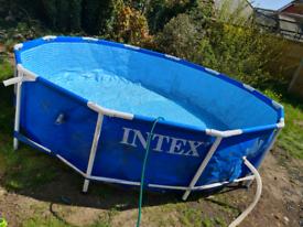 Intex 12 foot swimming pool with pump