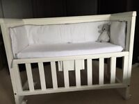 John Lewis bedside crib & EXTRAS