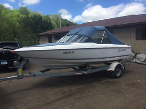 WOW! NICE CLEAN LOW HOUR 97' SUNBIRD 17' BOWRIDER WITH TRAILER