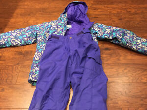 Size 7/8 snow suit and down filled coat