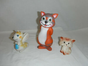 Vintage Made in Taiwan Squeaky Toys, Assorted Conditions