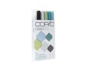 BRAND NEW. COPIC MARKERS 5 PACK  SEA PACK