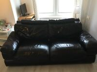 Black leather couch 3 and 2 seater need gone today