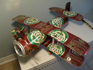 Handmade Kilkenny Beer Can Bi-plane Airplane