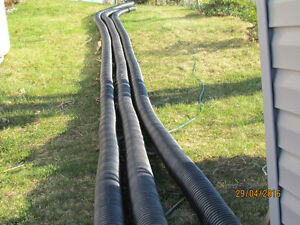 "4"" black ridged drain pipe"