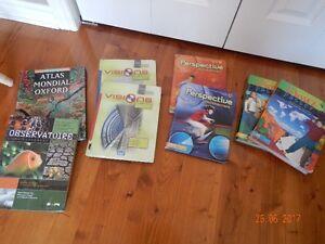 divers manuels scolaires/cahiers d'exercices et dictionnaires