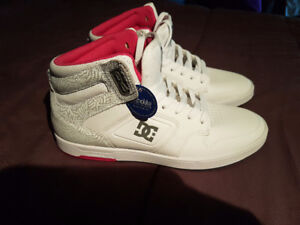 Women's Hightop DC Shoes, white and pink