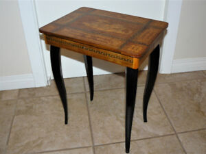 Ornate Vintage Table with KEY & MUSIC BOX - From Europe