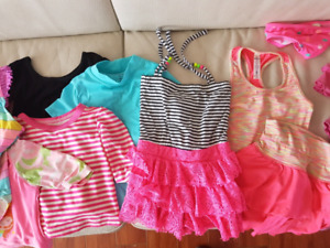 Large lot of Girls 4T Summer/Swim clothes