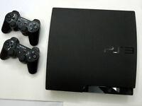 PS3 slim 160GB + 3 Manettes + 9 Jeux