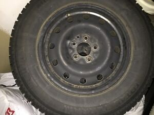 Four Tires 225/70R16 Motomaster Total Terrain (M+S) on rims