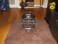 LIKE NEW BAUER HELMET AND CAGE