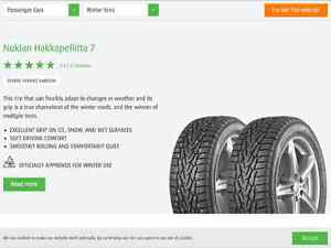 Factory Studded Nokian Winter Tires on Rims