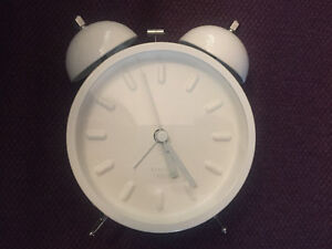 Small white Karlsson alarm clock Peterborough Peterborough Area image 1