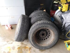 Goodyear Nordic 225/65/R17 Winter Tires with Rims