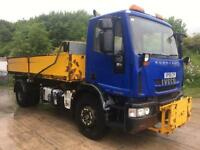 2009 59 Iveco Eurocargo 180E30 alloy dropside steel tipper, sheet, drawbar spec