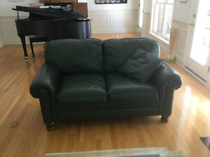 Barrymore leather sofa and loveseat