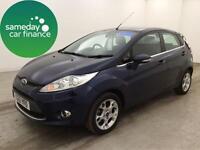 £162.70 PER MONTH BLUE 2012 FORD FIESTA 1.4 ZETEC 5 DOOR AUTOMATIC PETROL