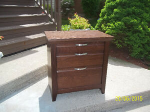Small Bedside Dresser with Two Pullout Drawers
