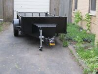 senior with van and 5x10 trailer for hire