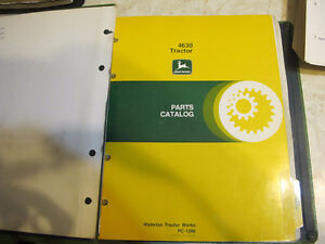 John Deere 4630 Tractor Parts Manual Regina Regina Area image 1