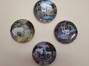 Set of 9 Unicorn plates