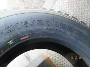 NEW;Semi tires,315/80 R22.5 Double Coin R99 tires. Moose Jaw Regina Area image 3