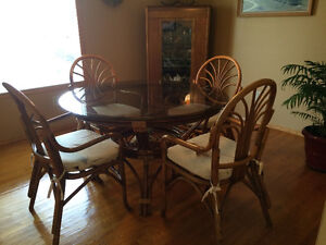 Rattan Dining Room Set