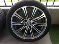 """BMW M3 Style 18"""" wheels with almost new tires"""