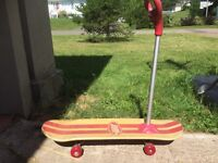 Radio Flyer skateboard / scooter with detachable handle