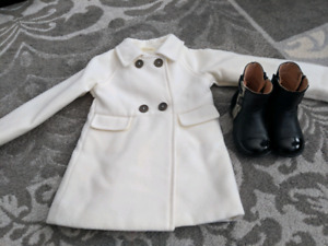 Size 18 month jacket and 23 Geox boots