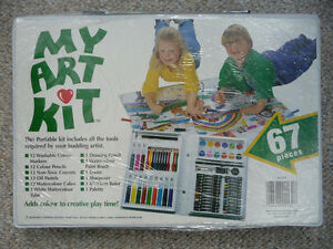 67 or 68 Piece Art Kits In Carrying Case - Still Sealed
