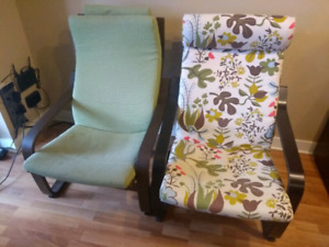 Ikea Poang Chairs (2) - Text 416-400-6479