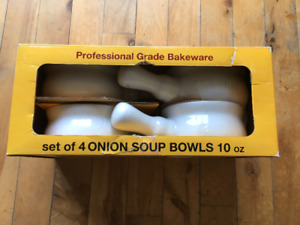 Set of 4 French Onion Soup Bowls