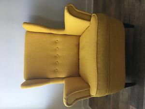Armchair with footstool
