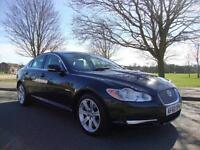Jaguar XF 3.0TD V6 Luxury Auto, 2010 60, 64k FSH, Black with Champagne Leather,