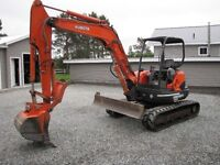Clean not abuse Kubota KX 161-3 low hrs and KX 41 also