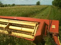 Haybine NH 482 mower Ground driven hay rake NH 315 baler