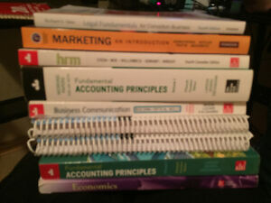 First year business administration text books
