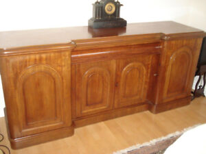 Antique Mahogany Server, Sideboard ,Buffet 4 Doors and Drawers