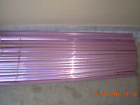 "2Dusty Rose metallic blinds114.3x60.96cmL,45x24""W,1""2.5lat,val2"