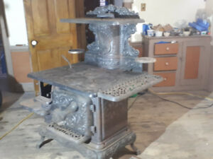 Vintage ornate kitchen wood stove