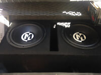 """2-12"""" Subs with amp. Memphis audio"""