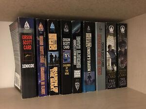 9 Orson Scott Card Books - Ender's Game, Ender's Shadow, etc.