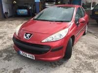 56 plate Peugeot 207 1.4s ONE LADY OWNER low miles mot sept 2017